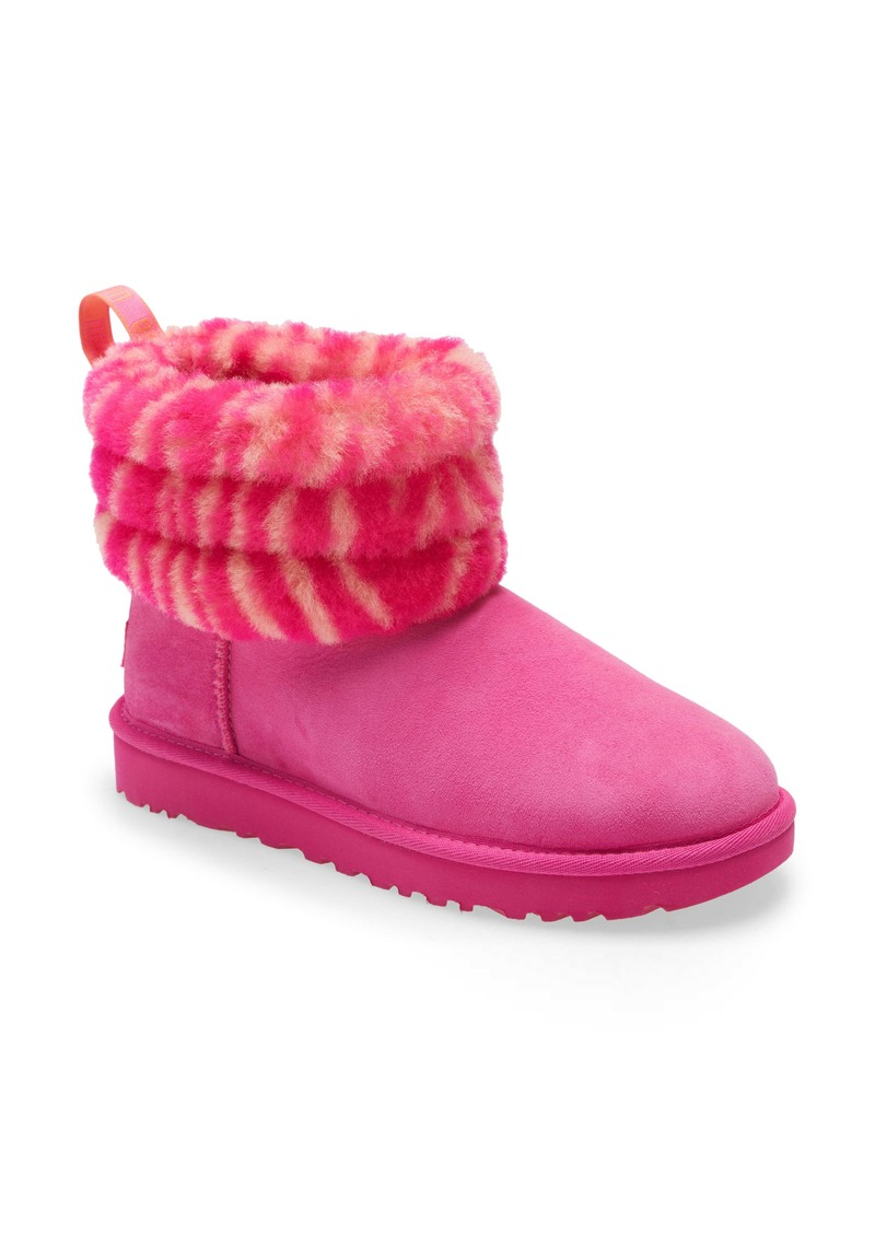 UGG® Mini Fluff Quilted Animal Print Boot (Women)