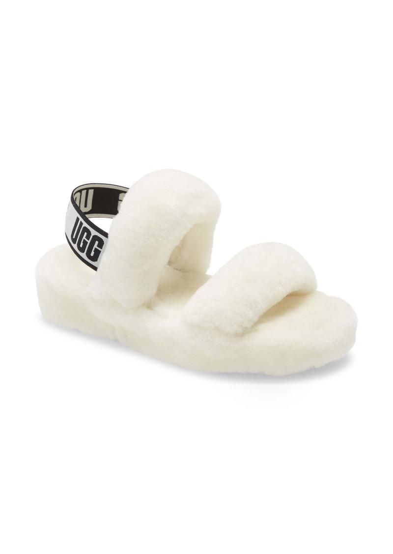 UGG® Oh Yeah Genuine Shearling Slingback Slipper (Women)