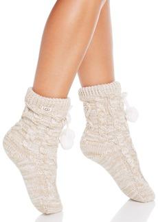 UGG� Pompom Fleece-Lined Socks