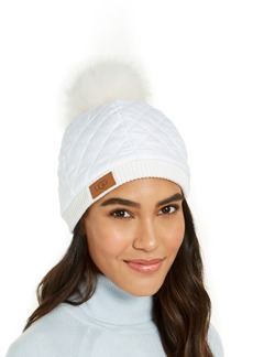 Ugg Quilted All Weather Hat with Fur Pom