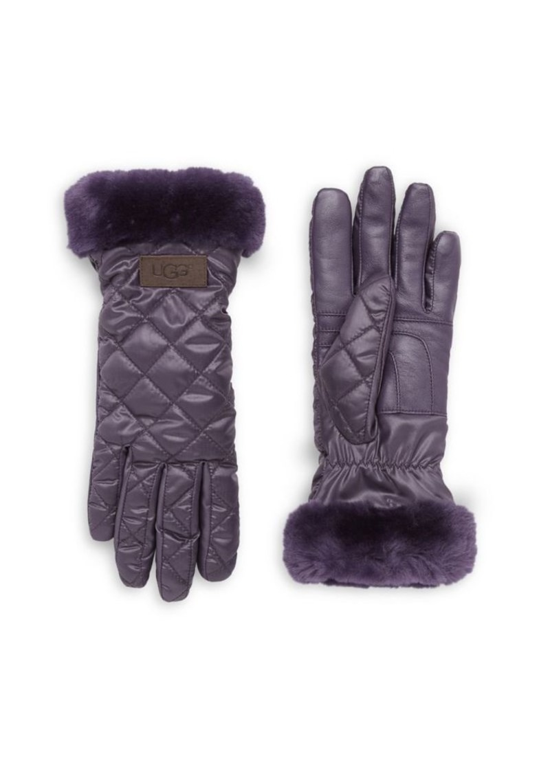 Ugg Women's Quilted Shearling Sheepskin Gloves