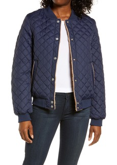 UGG® Reversible Quilted & Faux Shearling Bomber Jacket