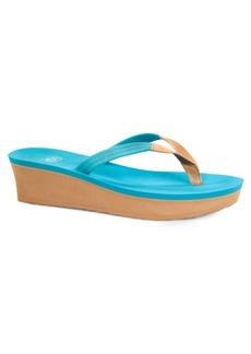 UGG Ruby Beach Leather Wedge Flip Flops