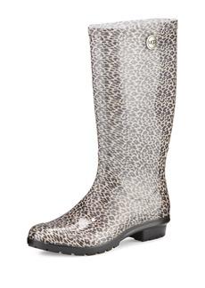 UGG Shaye Leopard-Print Rain Boot