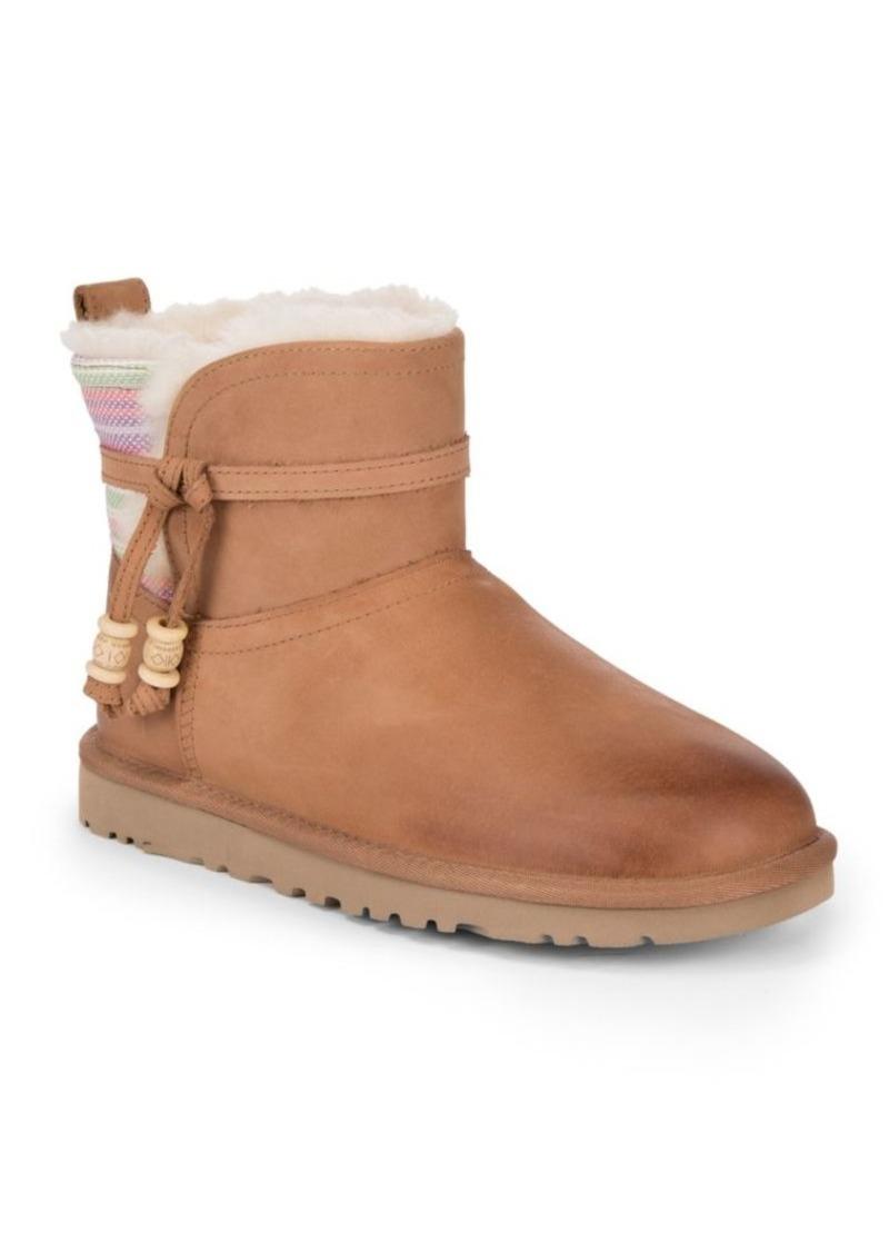 Short Auburn Serape Ankle Boots. UGG