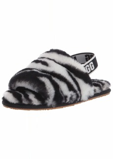 UGG womens T Fluff Yeah Slide Zebra Slipper   US