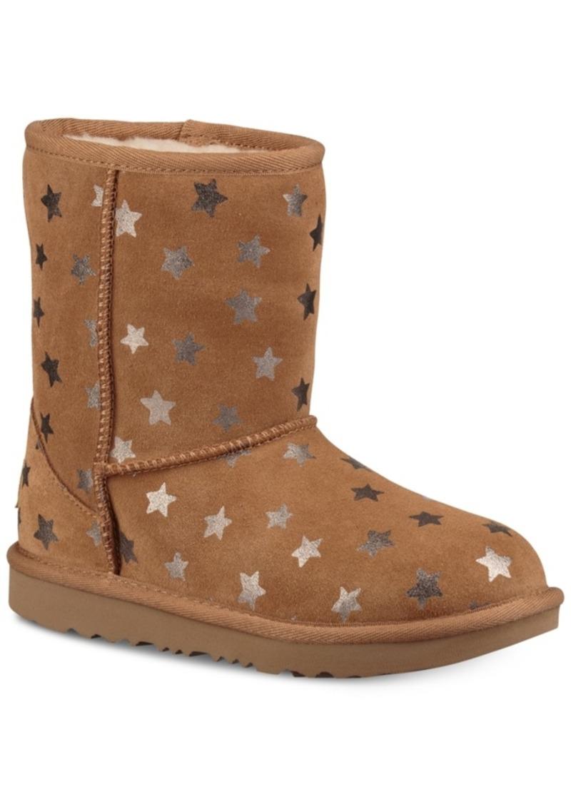 Ugg Little & Big Girls Classic Short Ii Stars Boots