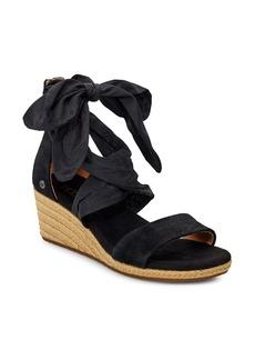 UGG® Trina Ribbon Tie Wedge Sandal (Women)