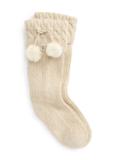 UGG UGGpure™ Pompom Tall Rain Boot Sock (Women)
