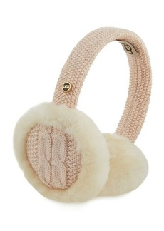 UGG Wired Cable-Knit Crochet Earmuffs