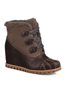 UGG� Women's Alasdair Waterproof Leather, Suede & Sheepskin Wedge Booties