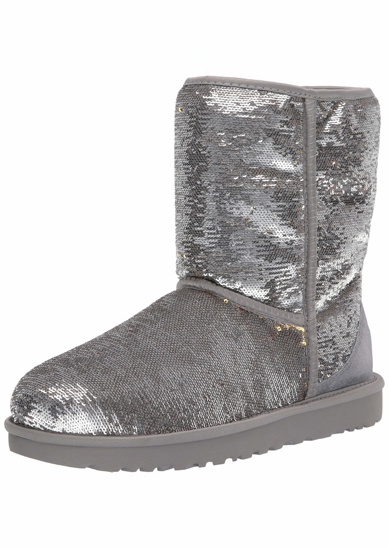 UGG Women's Classic Short Cosmos Sequin Fashion Boot   M US