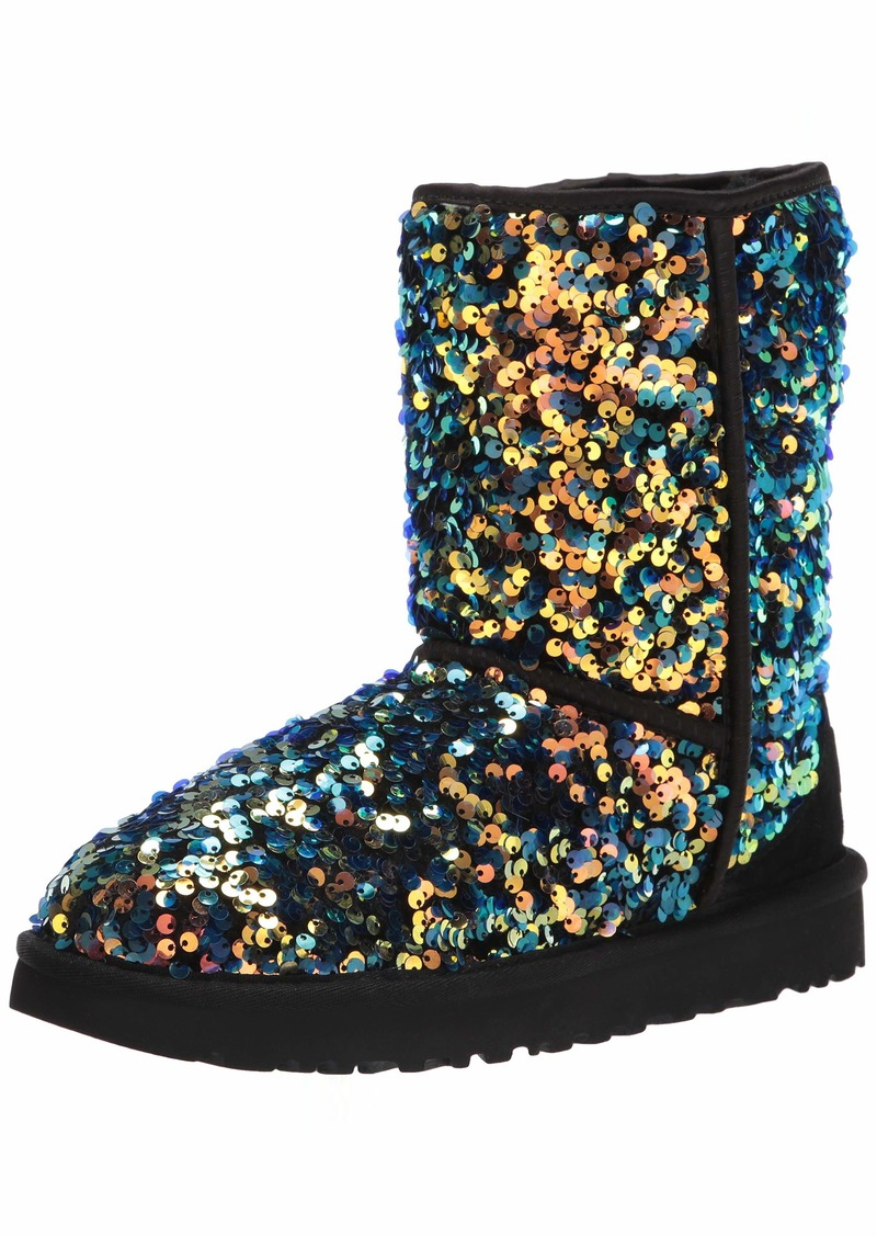 UGG womens Classic Short Stellar Sequin Fashion Boot   US