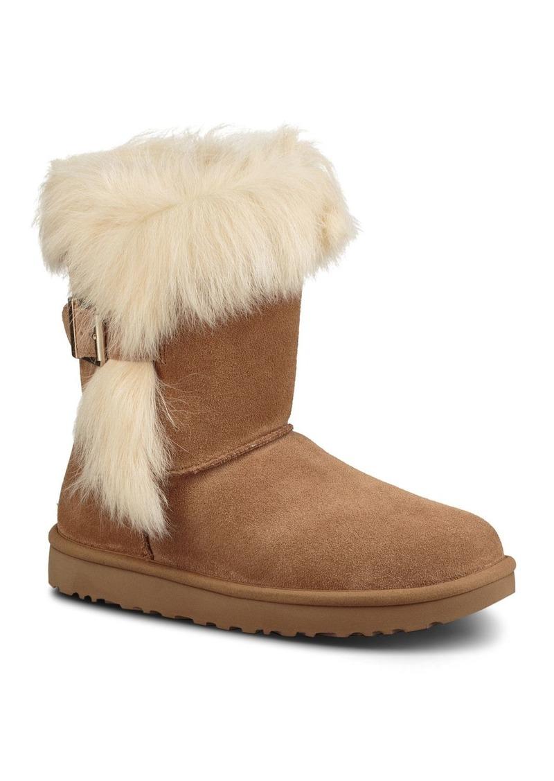 UGG Women's Deena Suede & Sheepskin Buckled Mid Calf Boots