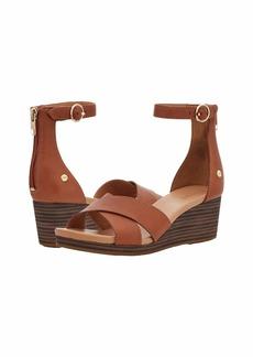 UGG Women's Eugenia Wedge Sandal TAN Leather
