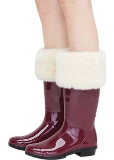 Ugg Women's Faux Fur Tall Rainboot Sock