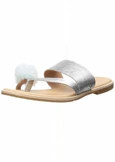 UGG Women's Hadlee Metallic Flat Sandal   M US