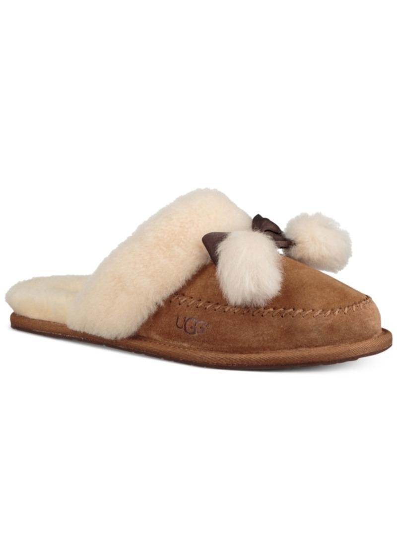 Ugg Ugg Women S Hafnir Pom Pom Slippers Shoes