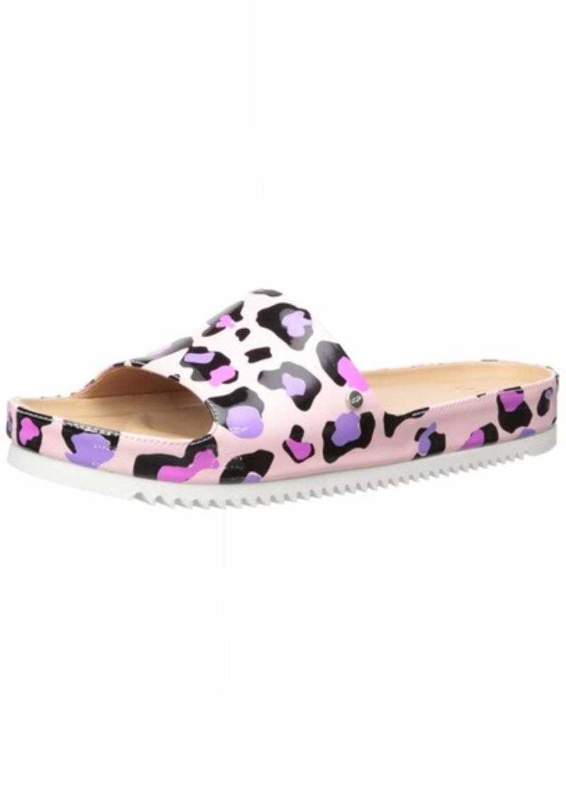 UGG Women's Jane Leopard Flat Sandal   M US