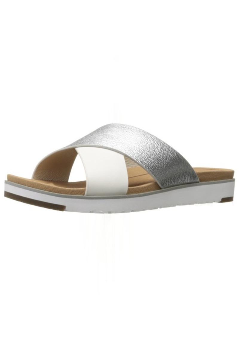 UGG Women's Kari Metallic Flat Sandal   B US