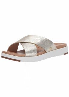 UGG Women's Kari Metallic Flat Sandal   M US