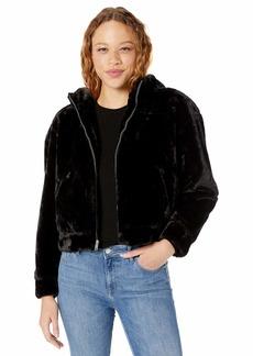 UGG Women's Mandy Faux Fur Hoodie black