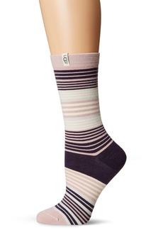 UGG Women's Merino Wool Jacquard Crew Sock  O/S