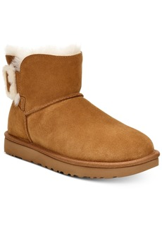 Ugg Women's Mini Bailey Fluff Buckle Boots, Created for Macy's