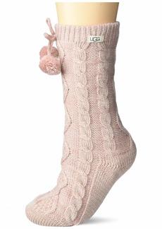 UGG Women's Pom Metallic Fleece Lined Crew Sock  Size O/S