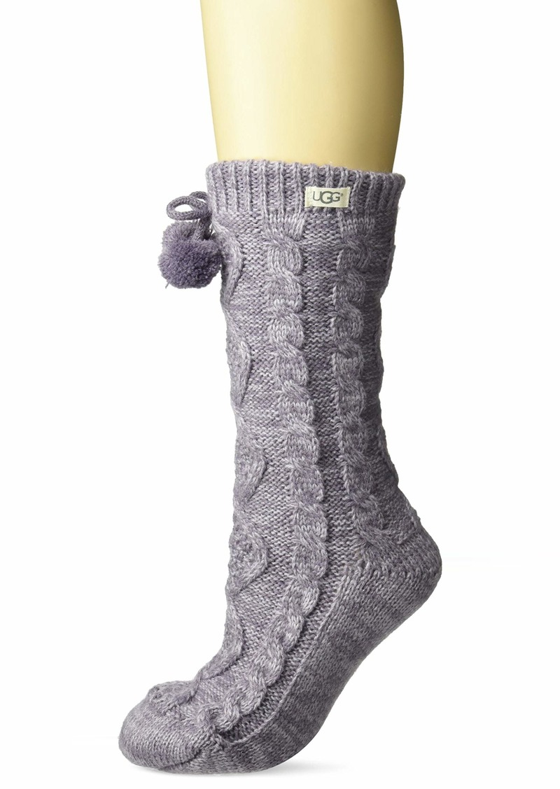 UGG Women's Pom Pom Fleece Lined Crew Sock