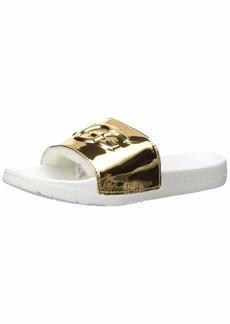 UGG Women's Royale Graphic Metallic Slide Sandal   M US