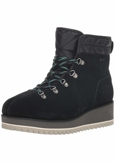 UGG Women's W Birch LACE-UP Boot Snow black  M US