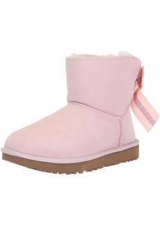UGG Women's W Customizable Bailey Bow Mini Fashion Boot seashell pink  M US