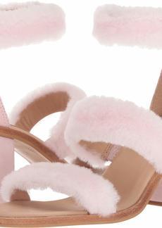 UGG Women's W DEL Rey Fluff Heel Heeled Sandal   M US