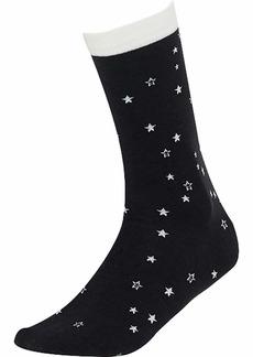 UGG Women's W Merino Wool Star Crew Sock black/white O/S
