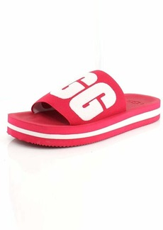 UGG Women's ZUMA Graphic Slide Sandal SWEET SANGRIA  M US
