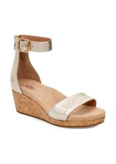 UGG® Zoe II Metallic Wedge Sandal (Women)