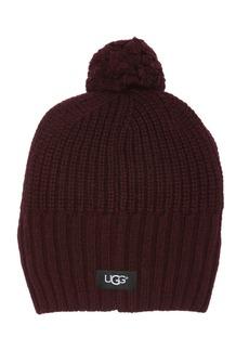 UGG Yarn Pompom Cardi Stitch Knit Beanie