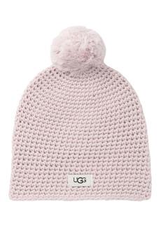 UGG Yarn Pompom Knit Beanie