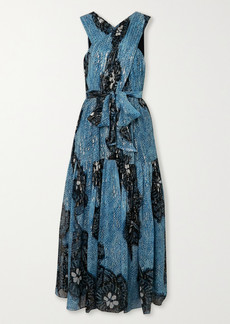 Ulla Johnson Adora Printed Fil Coupé Silk-chiffon Midi Dress