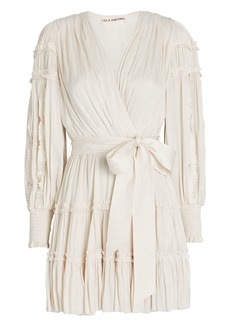 Ulla Johnson Amal Ruffled Mini Wrap Dress