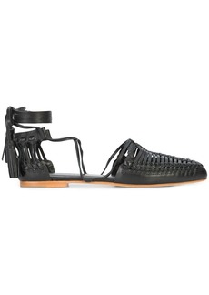 Ulla Johnson ankle tie woven sandals