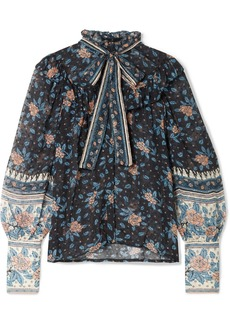 Ulla Johnson Antoine Pussy-bow Floral-print Fil Coupé Silk-blend Chiffon Blouse