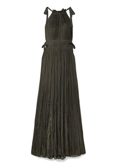 Ulla Johnson Augustine Plissé-satin Maxi Dress