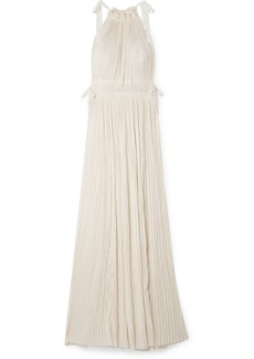 Ulla Johnson Augustine Plissé Satin Maxi Dress