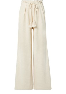 Ulla Johnson Ayana Cotton-terry Wide-leg Pants