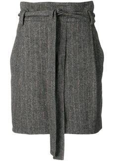 Ulla Johnson belted herringbone mini skirt