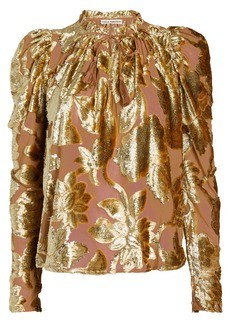 Ulla Johnson Camilla Metallic Devoré Blouse