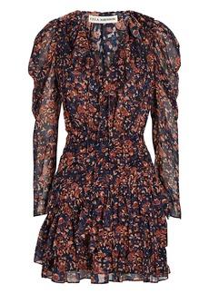 Ulla Johnson Cecily Floral Ruffle Mini Dress