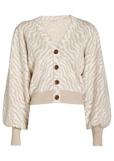 Ulla Johnson Cici Zebra Knit Wool Cardigan
